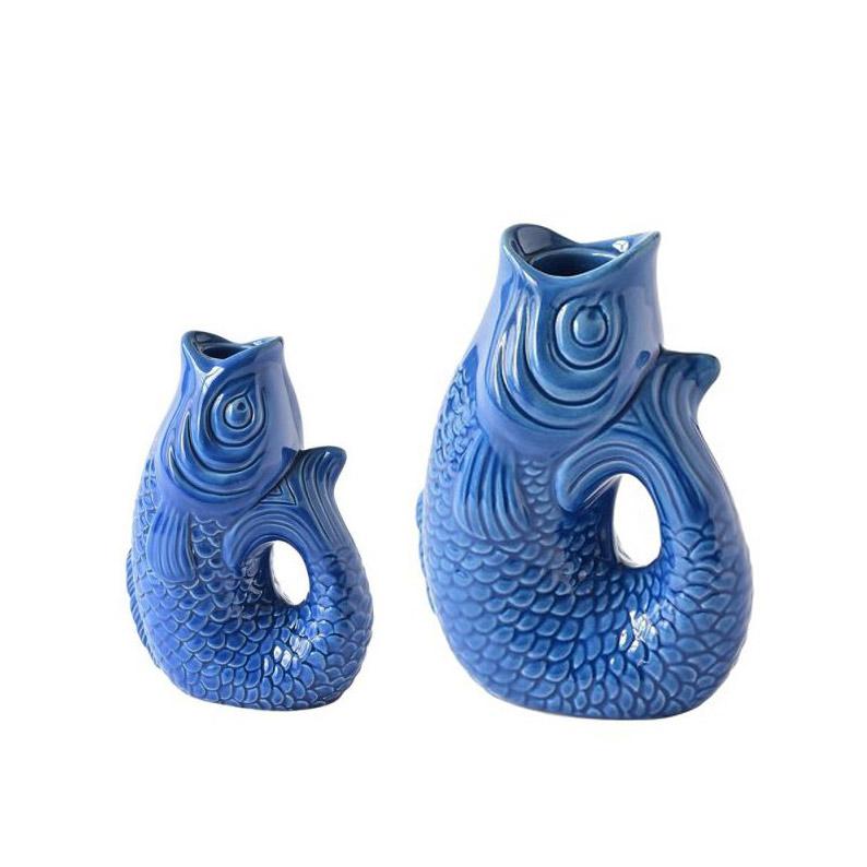 Monsieur Carafon Kerzenhalter - Farbe Azure - erhältlich in 2 Größen
