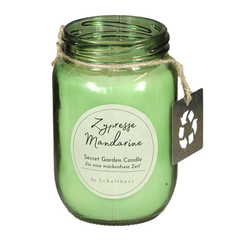 Antimücken - Duftkerze Zypresse & Mandarine  von Schulthess Kerzen