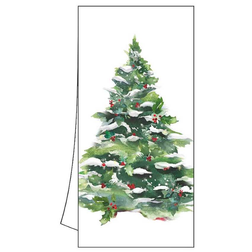 """Geschirrtuch """"Winter Tree & Wreath"""" von Paperproducts Design"""