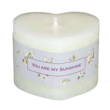 Schulthess Herzkerze - Duft You are my Sunshine