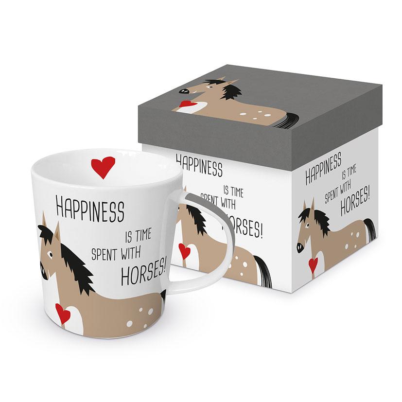 Happiness & Horses - die große Porzellantasse von PPD