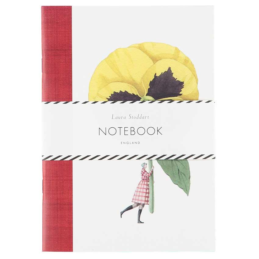 "Notizbuch / Notebook ""PANSY AND CARNATION"", Format DIN A5 von Laura Stoddart"