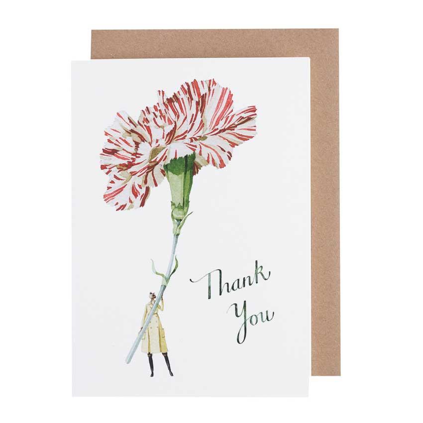 """Grußkarte """"THANK YOU"""" von Laura Stoddart"""