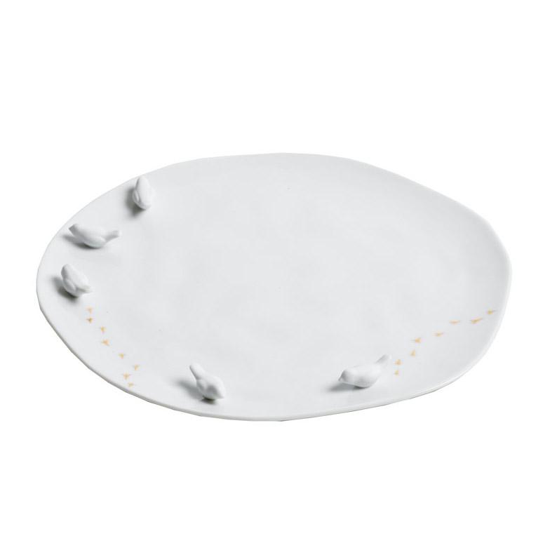 """großer Teller """"Vogelschwarm"""" - Porzellangeschichten von Räder - Design Stories"""