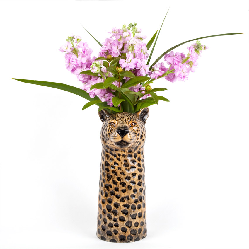 Quail Ceramics - die große Leopard Blumenvase