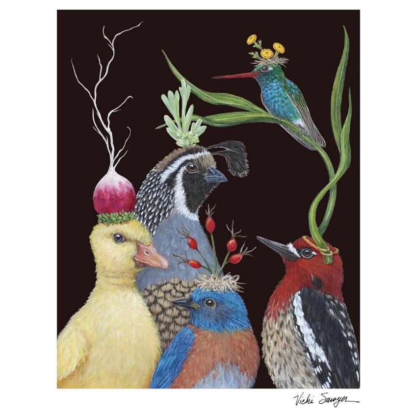 """""""NEW  TO THE NEIGHBORHOOD""""- Art Print von Vicki Sawyer - liebenswerte und skurrile Kunst von Hester & Cook"""