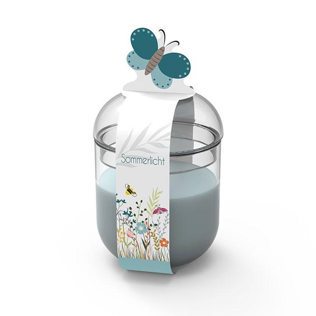 Engels Sommerlicht Schmetterling - Farbe Gletscher