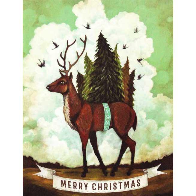 """Weihnachts Grußkarte """"CHRISTMAS ELK"""" von Hester & Cook"""