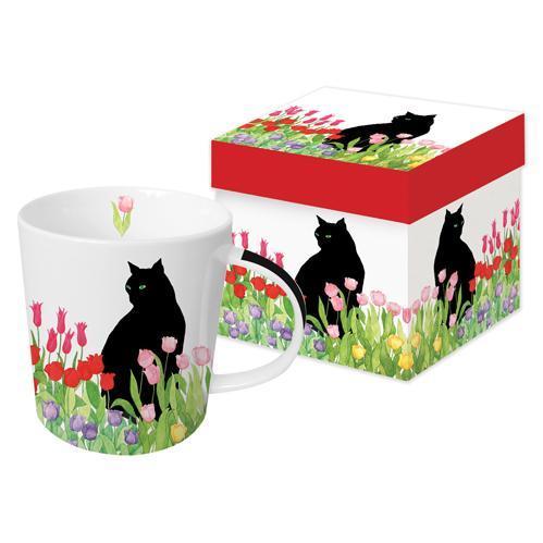 Black Cat Tulips - die große Porzellantasse von PPD