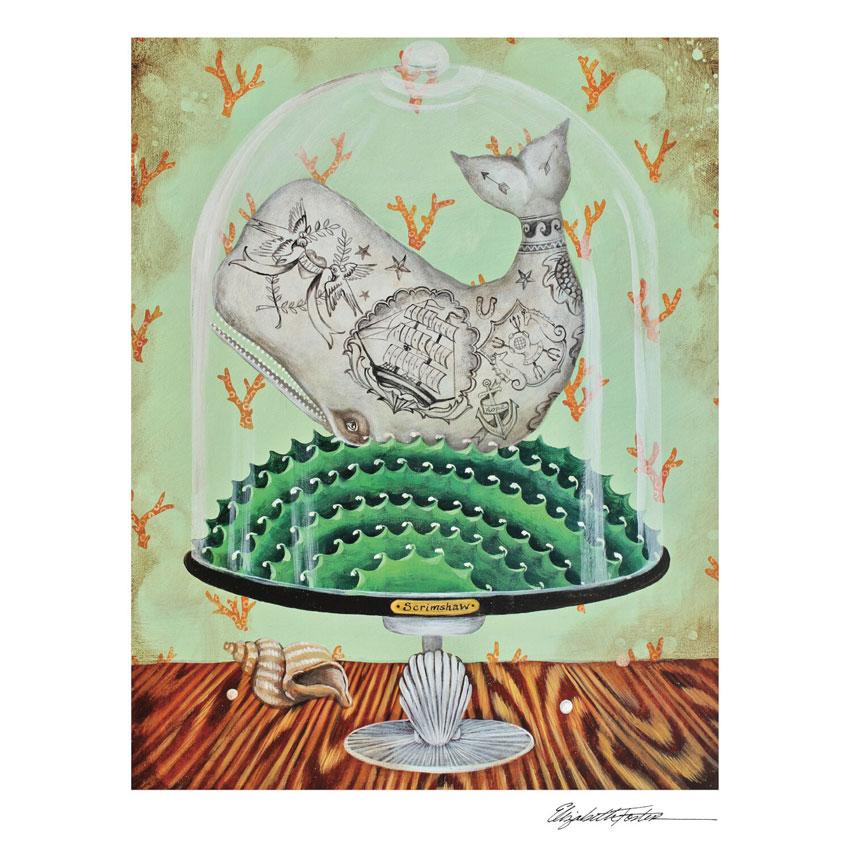 """""""SCRIMSHAW""""- Art Print von Elizabeth Foster - liebenswerte und skurrile Kunst von Hester & Cook"""