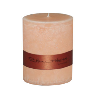 Schulthess Stumpenkerze ohne Duft - Farbe Peach cashmere