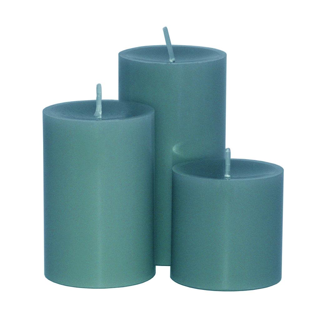 Engels ORIGINAL - Stumpenkerze gegossen - Farbe Jade