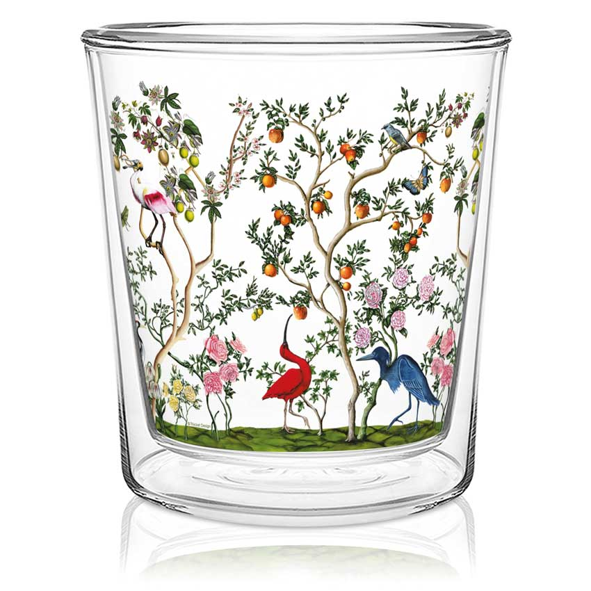 Bird Chinoiserie - Double wall Trend Glas von PPD