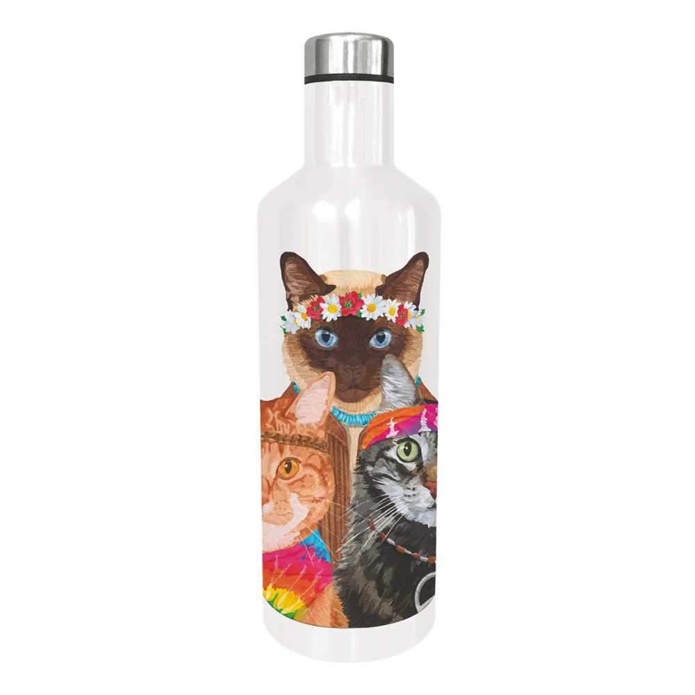 """""""Groovy Cats"""" / Edelstahl - Trinkflasche von Paperproducts Design"""