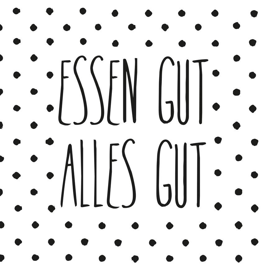 """""""Essen gut alles gut"""", große Papierservietten - Design Stories von Räder"""