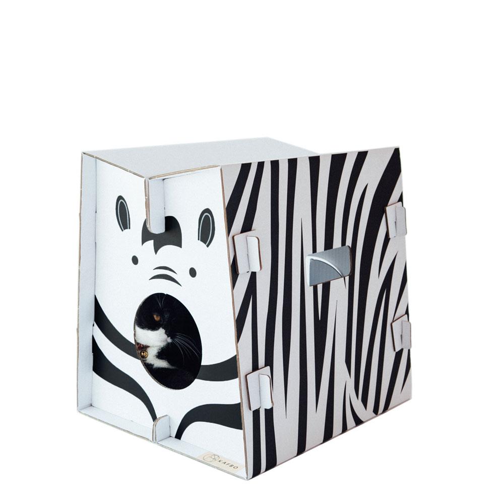 """Safari Katzenhaus """"Zebra"""" von KAFBO"""
