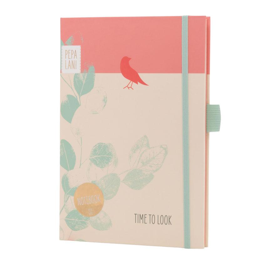 "Notizbuch / Notebook ""Time to look - Vogel"", Format DIN A5 von Pepa Lani®"
