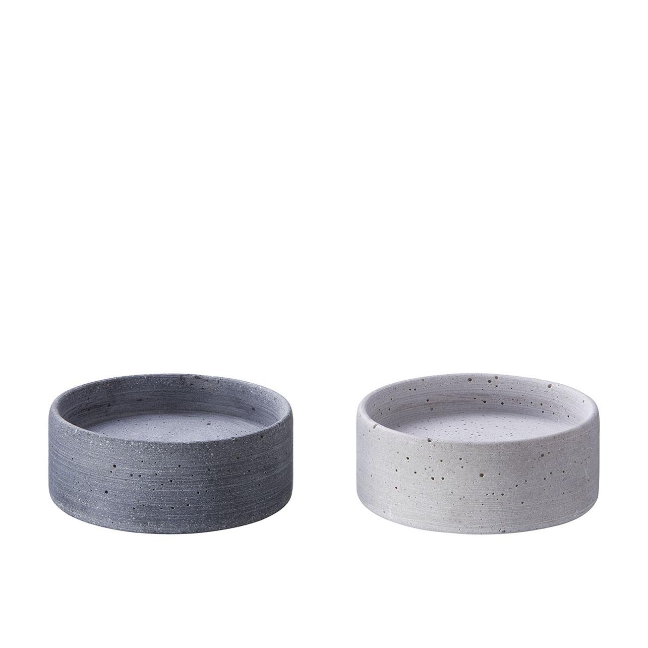 Kerzenteller OLE groß - grau oder anthrazit - von Engels Kerzen