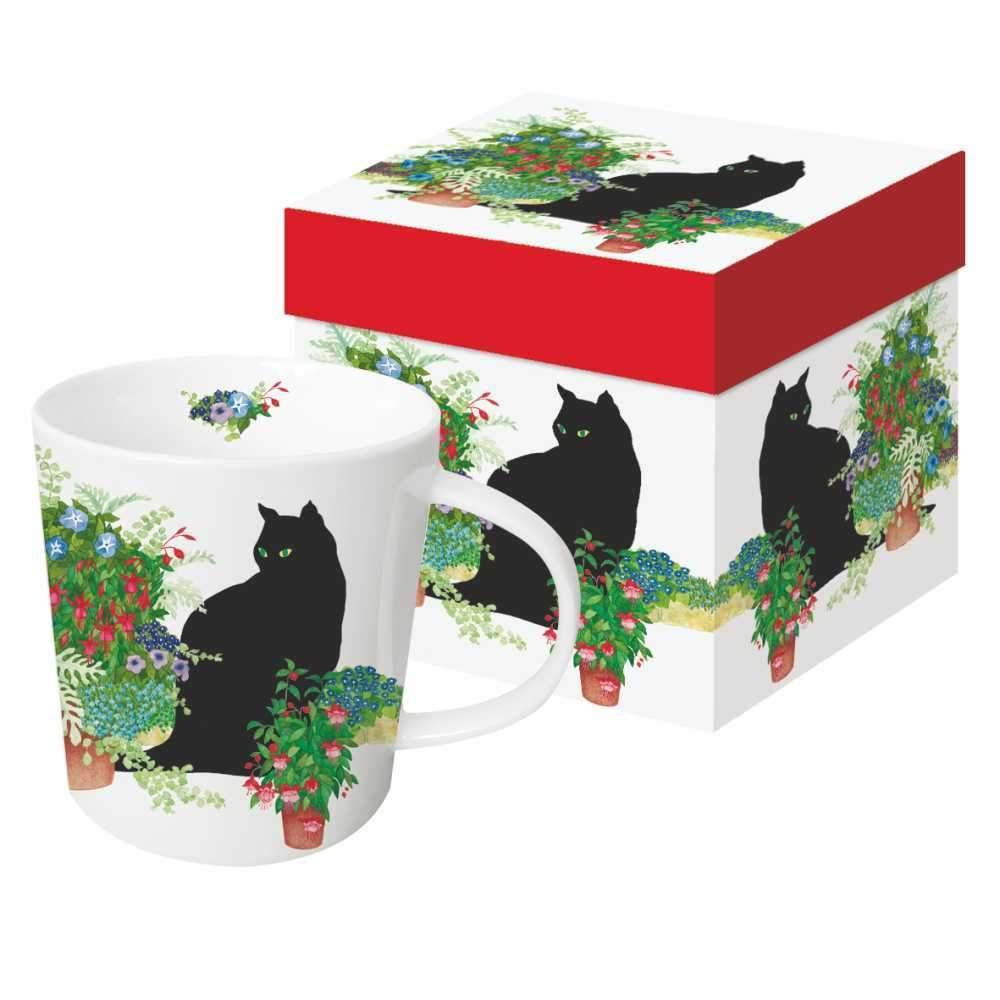 Black Cat Flower Pots - die große Porzellantasse von PPD