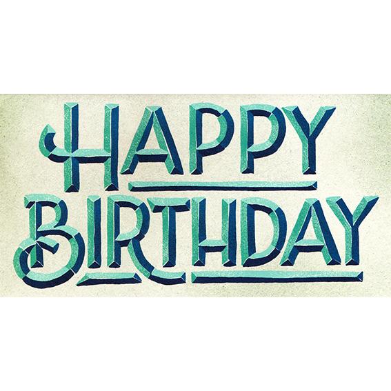"""Geburtstagskarte """"BEVELED BIRTHDAY"""" von Hester & Cook"""