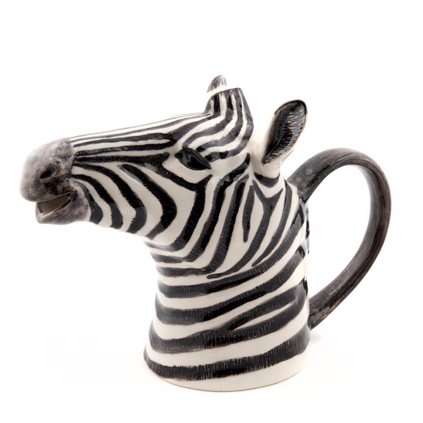 Quail Ceramics Jug - das große Zebra - Kännchen