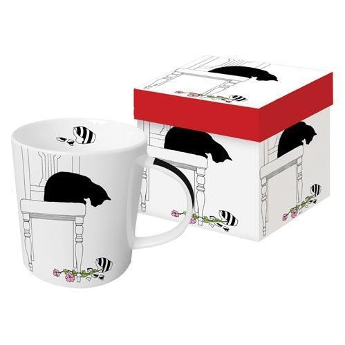 Black Cat Vase - die große Porzellantasse von PPD