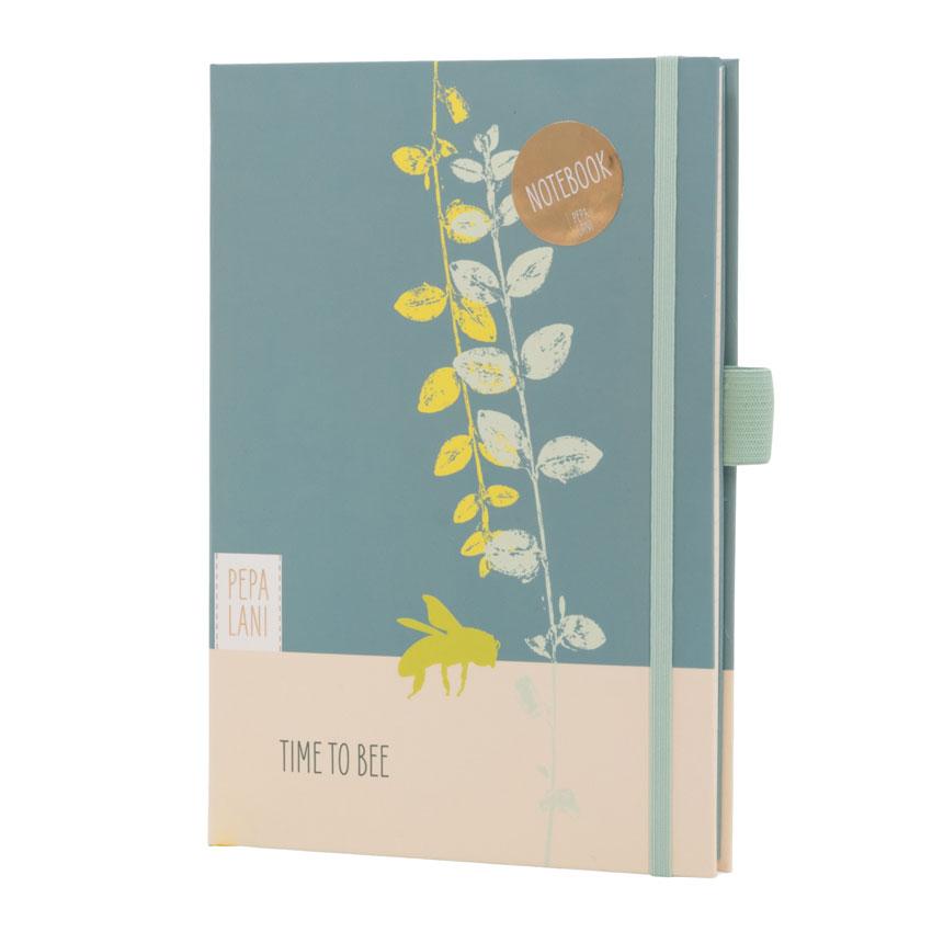 "Notizbuch / Notebook ""Time to Bee"", Format DIN A5 von Pepa Lani®"