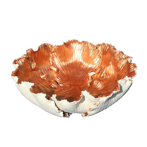 Tulpenschale aus Keramik - Farbe Keramik natur - kupfer
