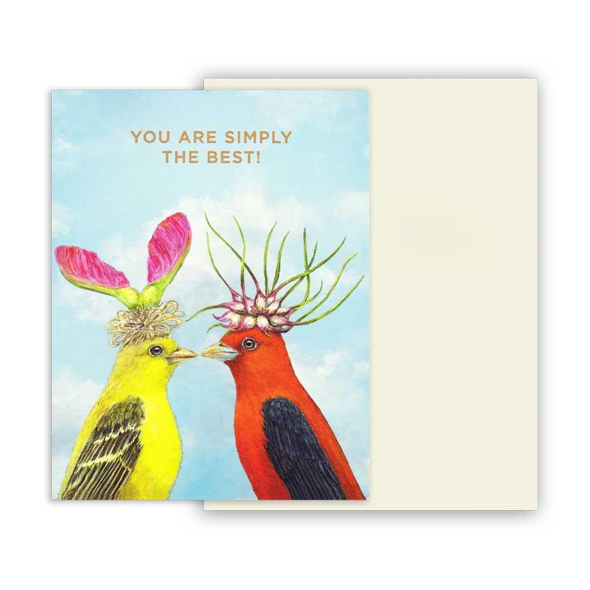 """Grußkarte """"SIMPLY THE BEST"""" von Hester & Cook"""