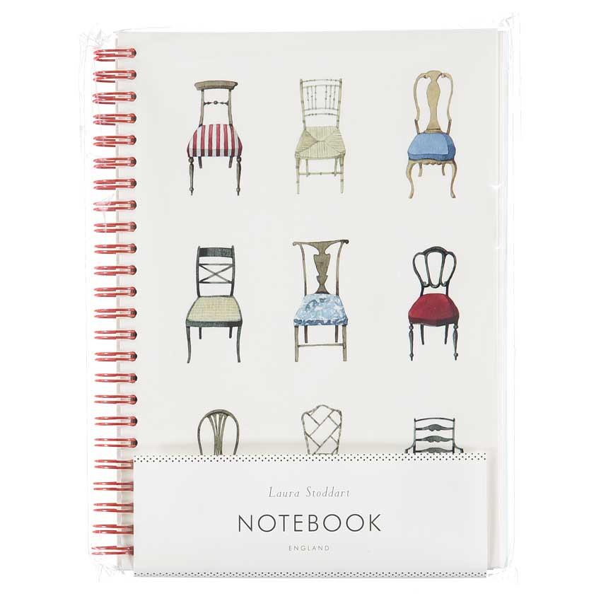 """Notizbuch / Notebook """"MUSICAL CHAIRS"""", Format DIN A5 von Laura Stoddart"""