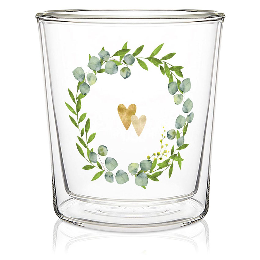 Two Hearts - Double wall Trend Glas von PPD