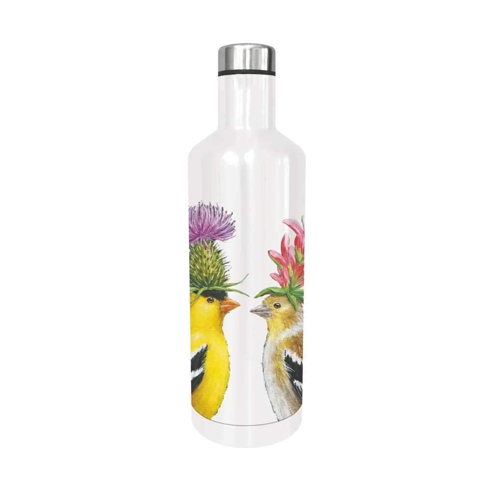 """""""Goldfinch Couple"""" / Edelstahl - Trinkflasche von Paperproducts Design"""