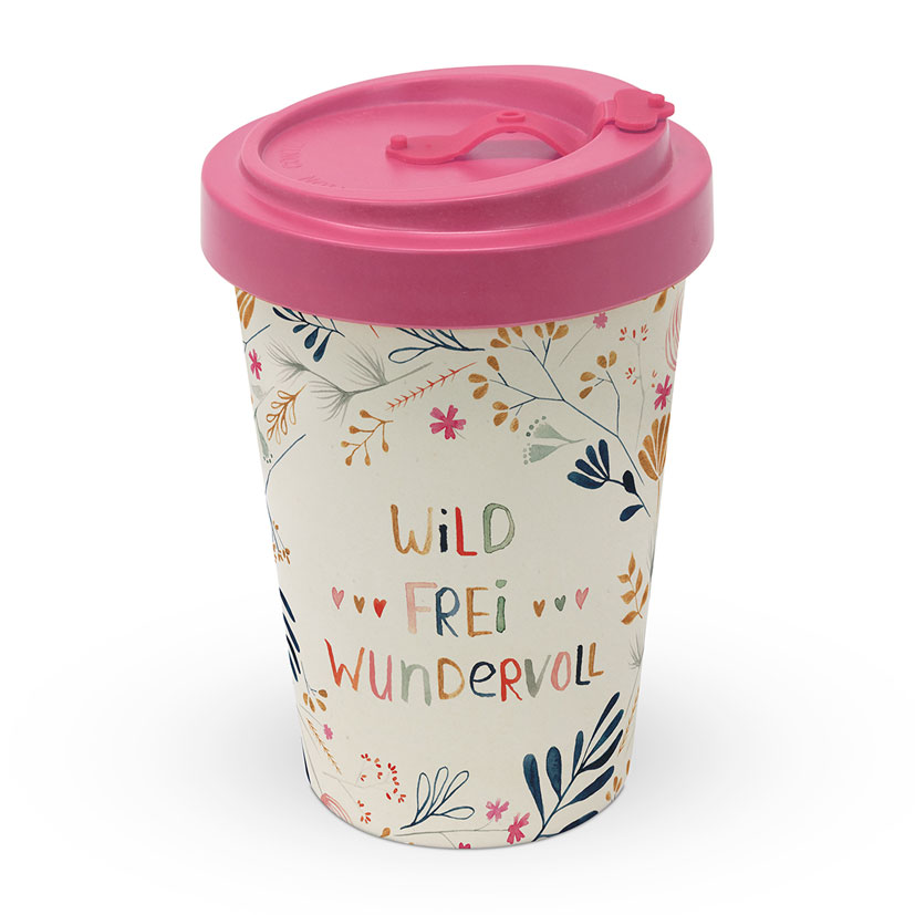 Wild - Frei - Wundervoll  - Travel Mug Bamboo
