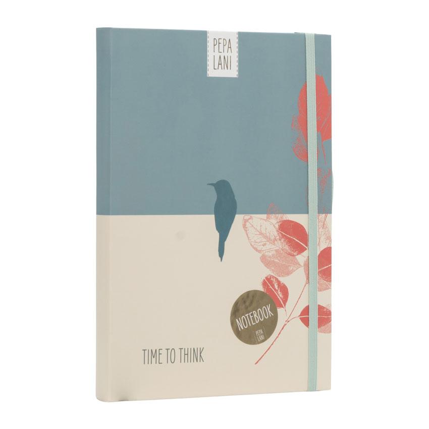 "Notizbuch / Notebook ""Time to think - Vogel"", Format DIN A5 von Pepa Lani"