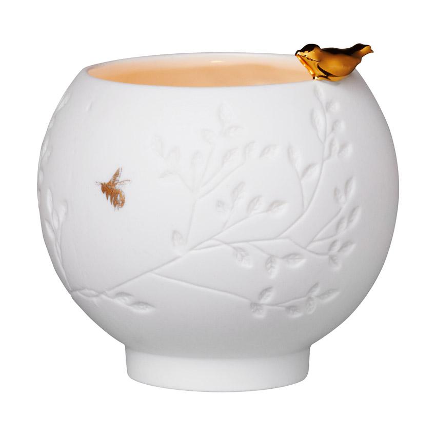 Porzellangeschichten mit Vögelchen - Teelicht von Räder