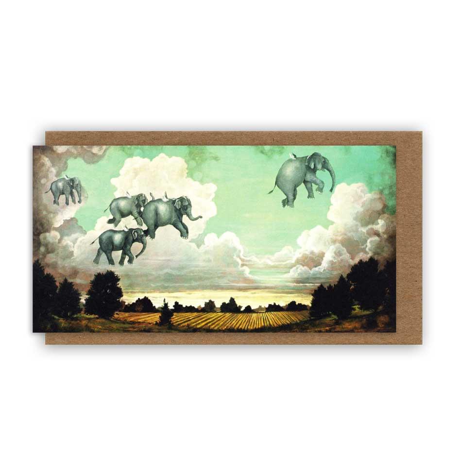 """Grußkarte """"THE FLYING LESSON"""" von Hester & Cook"""