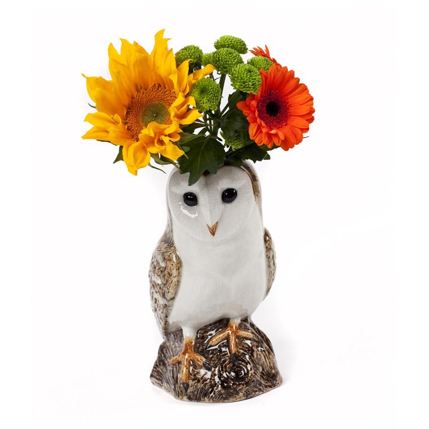 """""""Barn Owl"""" - die große Blumenvase von Quail Ceramics"""