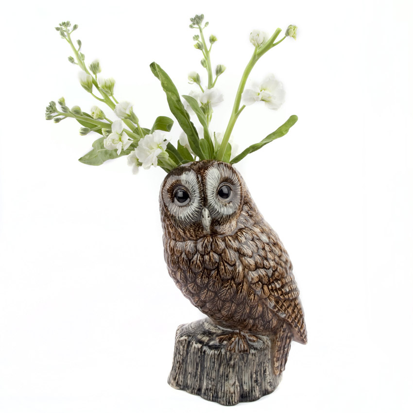 """Tawny Owl"" - die große Blumenvase von Quail Ceramics"