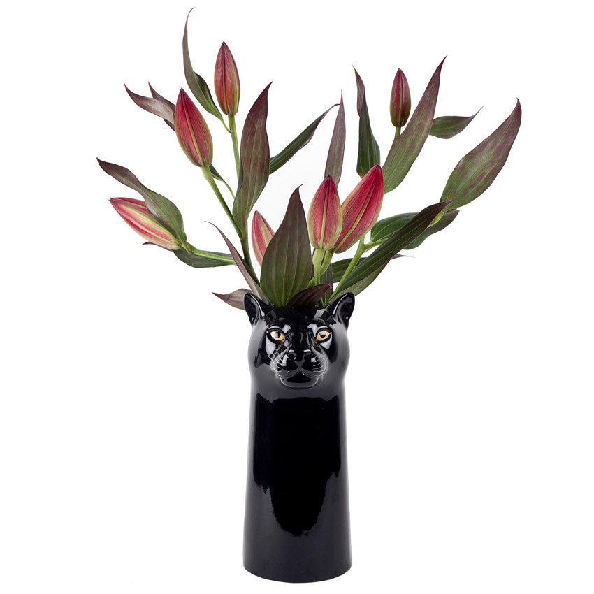 Quail Ceramics - die große Panther Blumenvase