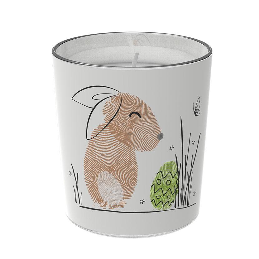 """Osterkerzen Glas Rita - """"die Zufriedene"""" - von Engels Kerzen"""