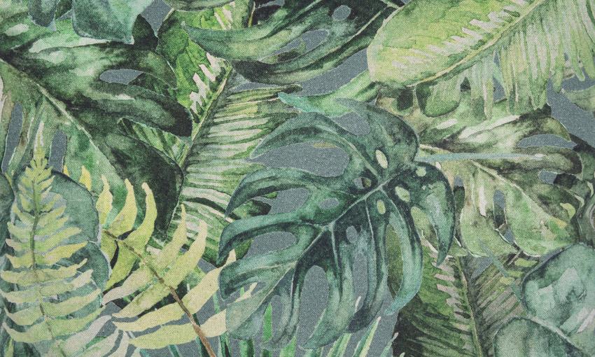 "Sofakissen ""Backwoods"" Palmenblätter  50 cm x 50 cm"