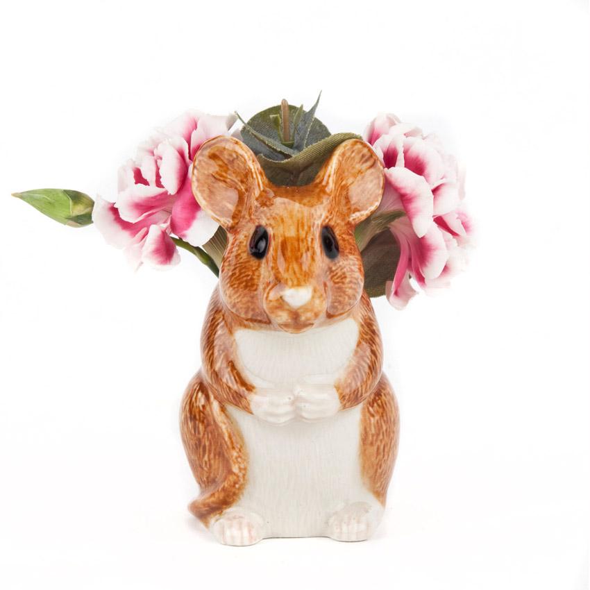 Wood Mouse Mini Vase - von Quail Ceramics