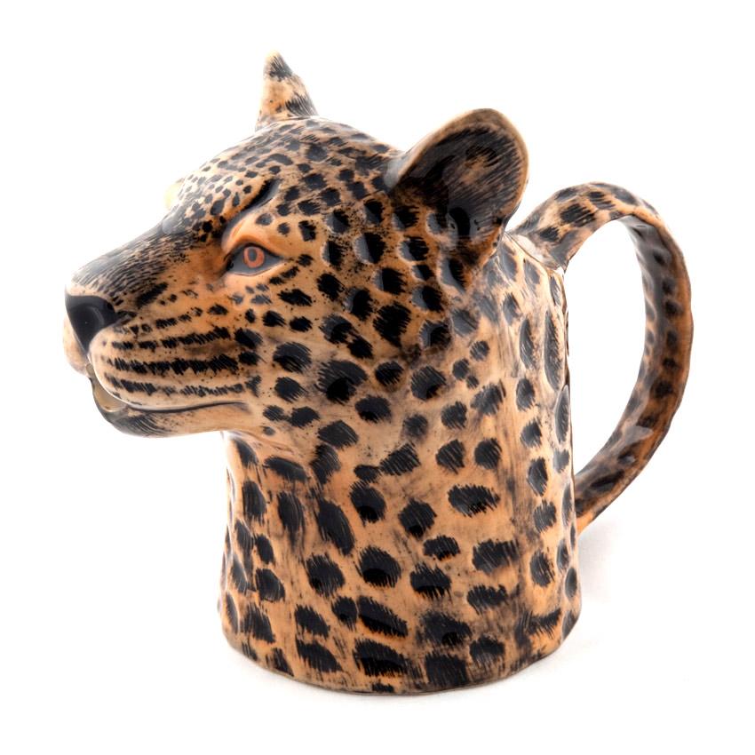 Quail Ceramics Jug - das große Leoparden - Kännchen