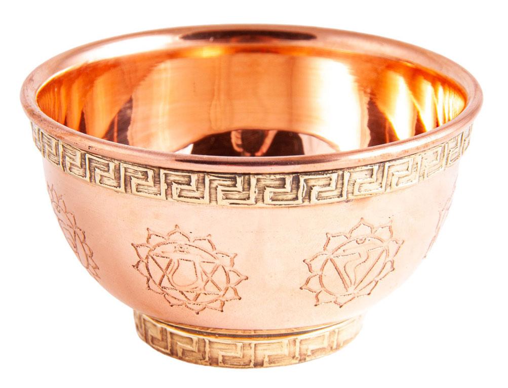 Räucherschale Chakra aus Kupfer