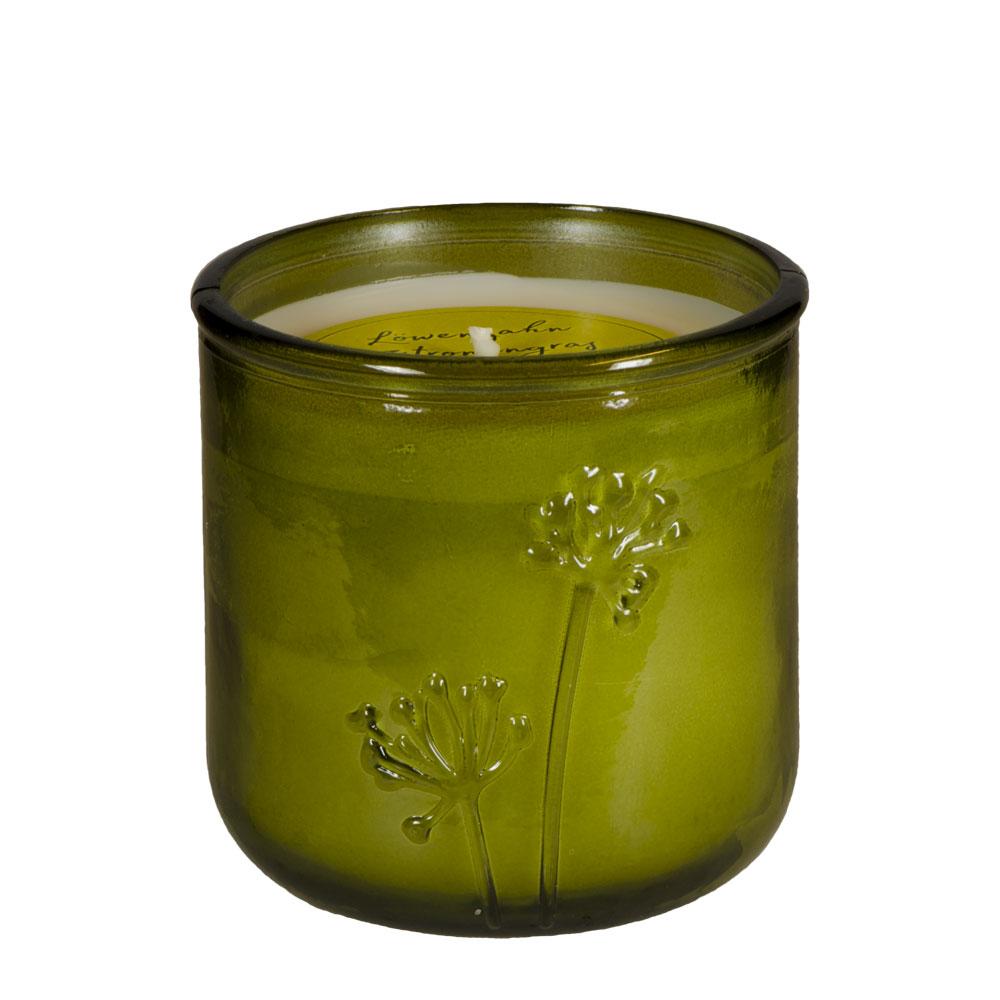 Antimücken - Duftkerze Löwenzahn & Zitronengras von Schulthess Kerzen
