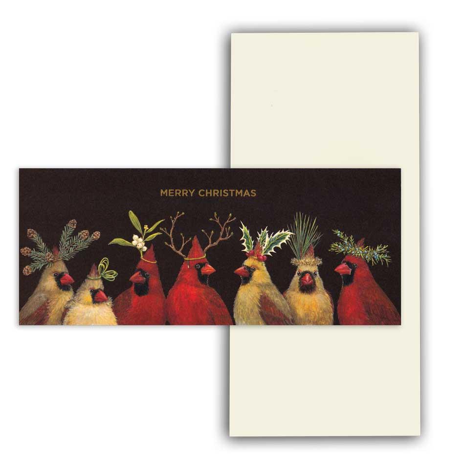 """Weihnachts Grußkarte """"CHRISTMAS CARDINALS"""" von Hester & Cook"""
