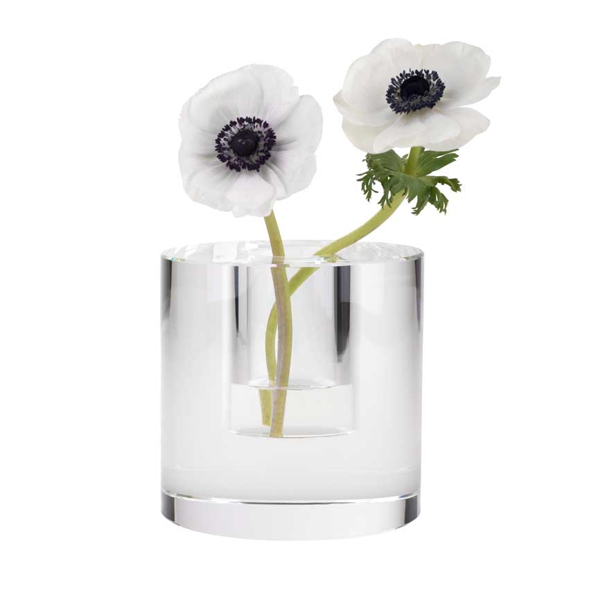 Dioptrics Kristallglas Vase - Zylinder S - von der Gift Company