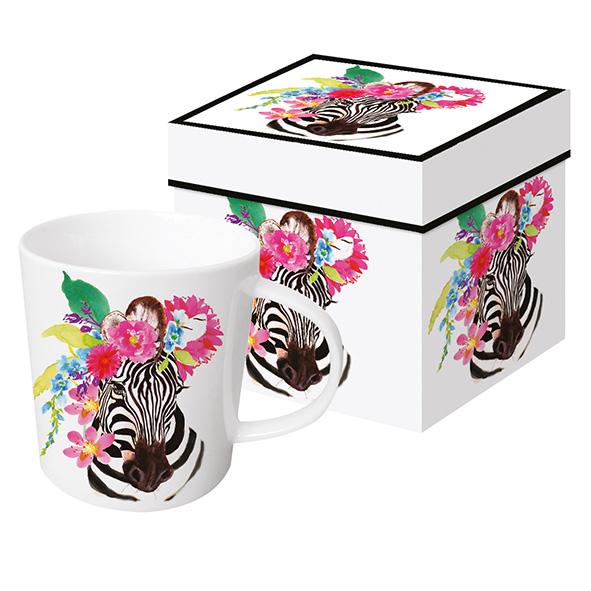 Flora Zebra - die große Porzellantasse von PPD