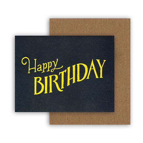 """Geburtstagskarte """"HAPPY BIRTHDAY"""" von Hester & Cook"""
