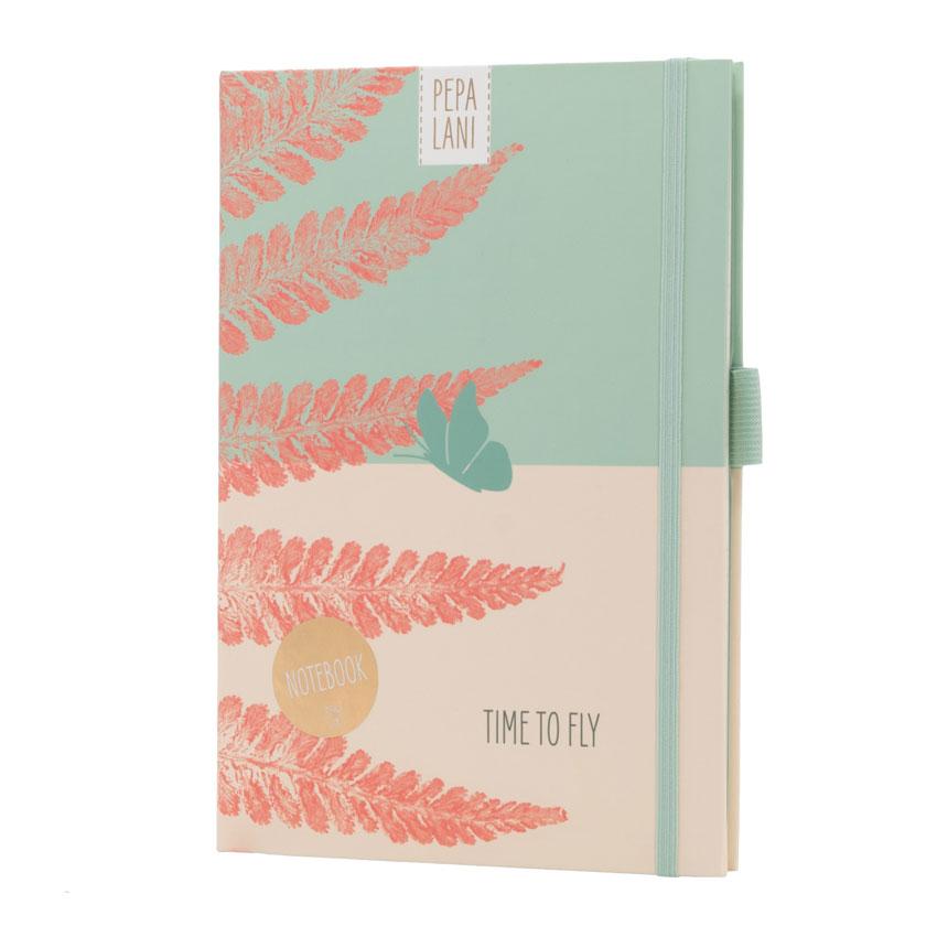 "Notizbuch / Notebook ""Time to Fly Schmetterling"", Format DIN A5 von Pepa Lani"